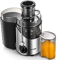 centrifuga frutta e verdura, aicook 2021 estrattore di succo a freddo con 65mm bocca, centrifuga di acciaio inox con 3 velocità, acciaio inossidabile a usi alimentari senza bpa, ricette di elettronica
