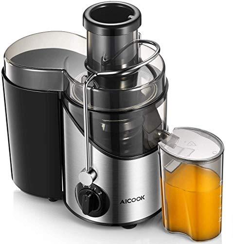 Aicook Licuadoras para Verduras y Frutas, 3 Velocidades Profesional Licuadoras para Zumos, Procese Frutas y Verduras rápidamente, 18000 RPM Extractor de Jugos Libre de BPA