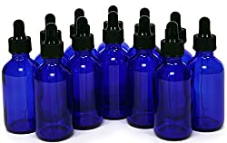 These 1 oz. blue tincture bottles with droppers are perfect for storing and dispensing green dragon tincture.