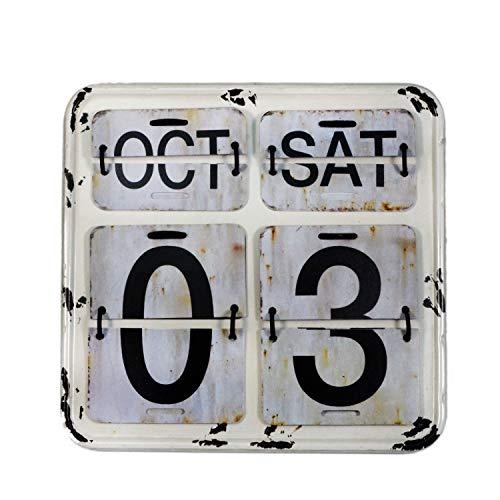 【USA アメリカン デザイン】カレンダー 日めくり カフェ ガレージ インダストリアル ビンテージ バイカー インテリア 看板 WH ;AVCA-011