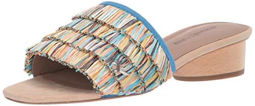 Donald J Pliner Women's REISE2-R Slide Sandal, Azul Multi, 8 B US
