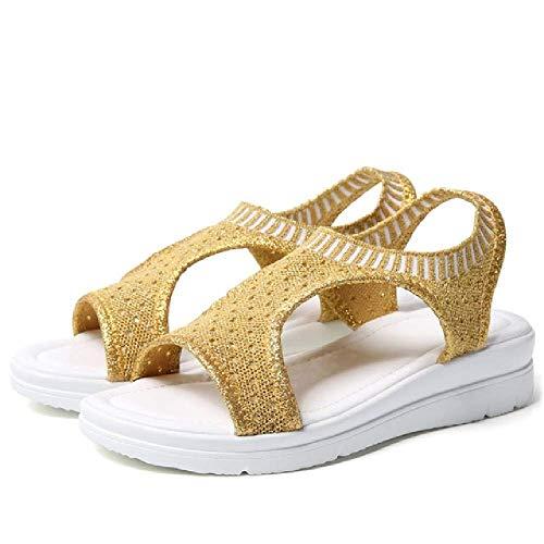Sandalen Frauen Sommer Schuhe Peep Toe Casual Flache Sandalen Damen Atmungsaktive Air Mesh Frauen Plateau Sandalen