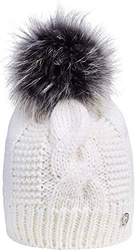 Sportalm Mütze mit Fellbommel Größe One Size Weiß (Optical White)