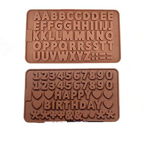 Lhbfcy Mini Stampi in Silicone 3D A Forma di Lettera Marrone Stampi per Praline Cioccolato Lettere Dell'alfabeto Stampi Silicone per Fare Biscotti Cioccolato Caramelle Gelatina Cubetti Ghiaccio Torte