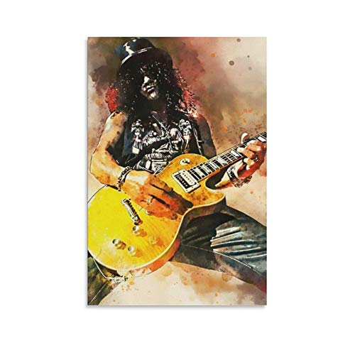 jingqing Leinwand-Kunst-Poster mit Slash Gitarre, modernes Design, 40 x 60 cm