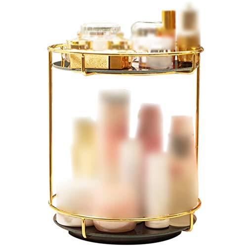 Organizadores de cosméticos Organizador De Maquillaje Giratorio para Baño, Estante Multicapa para Productos para El Cuidado De La Piel, Caja De Almacenamiento De Gran Capacidad