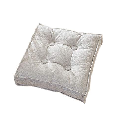 yzzseason Cojín de suelo 100% algodón, 10 cm de grosor, cojín elevador para sillón, sillón, sillón, sillón, elevador, almohadilla potenciadora (gris, 50 x 50 x 10 cm)
