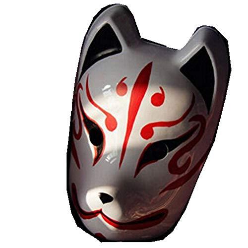 Changlesu Vollgesichts-handgemalte Japan-Fox-Maske Kitsune Cosplay Maskerade