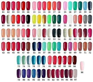 LOVECRAZY - Kit de Esmaltes de Uñas en Gel Semipermanente 10 Colores de Esmaltes y Top Coat Base Coat Incluido una 36W L...