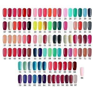 LoveCrazy 4pcs Kit De Colores 89-92 Esmaltes en Gel Manicura Francesa Uñas de Gel Esmalte Semipermanente Color Gel UV LED Manicura Arte