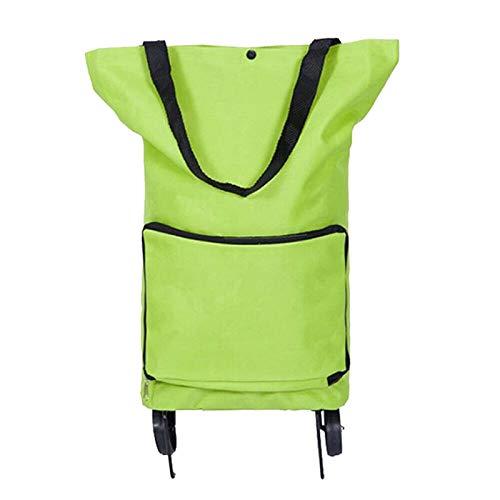 Einkaufstrolley Leichter Einkaufstrolley Faltbare Einkaufstasche Einkaufswagen mit 2 Rollen und abnehmbarer Tasche Wiederverwendbare Einkaufstaschen