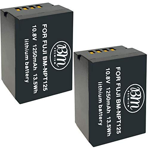BM Premium 2 Pack of NP-T125 Batteries for Fujifilm GFX 50S, GFX50S, GFX 50R, GFX50R, GFX 100, GFX100 Cameras and Fujifilm VG-GFX1 Battery Grip