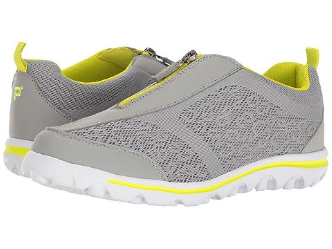 小間テクスチャー練習した(プロペット) Propet レディースウォーキングシューズ?カジュアルスニーカー?靴 TravelActiv Zip Silver/Lime 8 25cm XX (4E) [並行輸入品]
