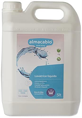 Almacabio Detergente Liquido per il Bucato in Lavatrice e a Mano 140 lavaggi - Certificato ecobio - Made in italy - 5000 ml