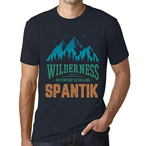 One in the City Hombre Camiseta Vintage T-Shirt Gráfico Wilderness SPANTIK Marine