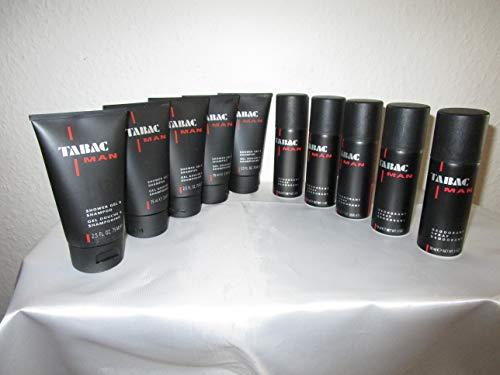 TABAC MAN 5 x 75 ml Duschgel & Shampoo + 5 x 50 ml Deo
