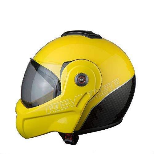 BHR Helmets 807 REVERSE Motorradhelm Unisex für Erwachsene, Gelb, L