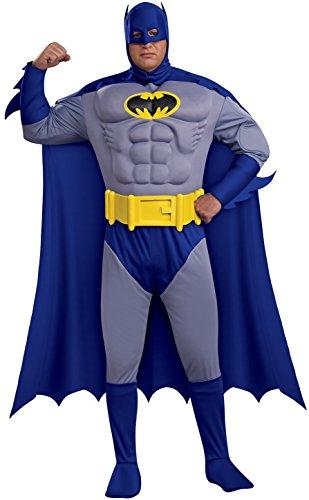 Rubies Costumes 180105 Batman Brave & Bold Deluxe Muscle Chest Adulte Plus Costume - Noir - Plus - 44-50