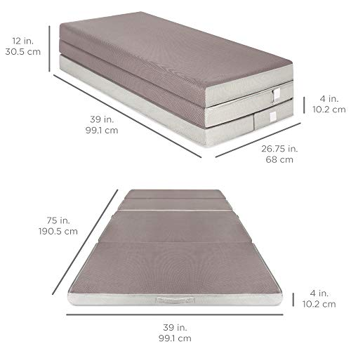Best Choice Products 4in Thick Folding Mattress