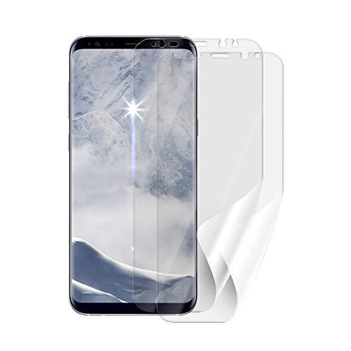 Beschermfolie SCREENSHIELD voor SAMSUNG G955 Galaxy S8 Plus [2 stuks, 2 versies] - volledige dekking van het scherm bij gebruik met of zonder telefoonhoes; geen pantserglas