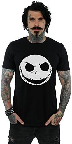 Disney hombre Nightmare Before Christmas Jack Skellington Face Camiseta