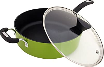 Ozeri The Green Earth All-In-One Sauce Pan 100% APEO, GenX, PFBS, PFOS, PFOA, NMP and NEP-Free German-Made Coating, 5 L (5.3 Quart)