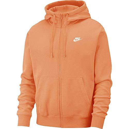 Nike NSW CLUB ZIP HOODY Größe: XL Farbe: ORANGE