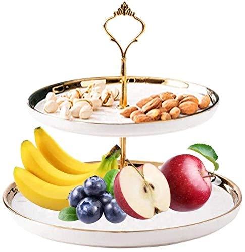 ZHENG Cesto de Frutas Cesto de Vegetales Cuenco de Almacenamiento Cromo Swinging...