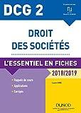 DCG 2 - Droit des sociétés - 2018/2019 - L'essentiel en fiches - L'essentiel en fiches (2018-2019)