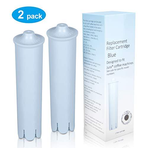 Jisson Wasserfilterpatronen-Ersatz für Jura Claris Blue, Filter für Jura EspressoAutomaten, kompatibel mit der ENA IMPRESSA Serie (2er-Pack)