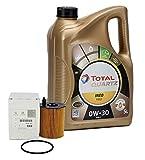 PACK ORIGINAL DUO aceite motor Total Quartz Ineo First 0W-30, 5 Litros + filtro aceite PSA Original 1109AY motores 1.4/ 1.6HDi