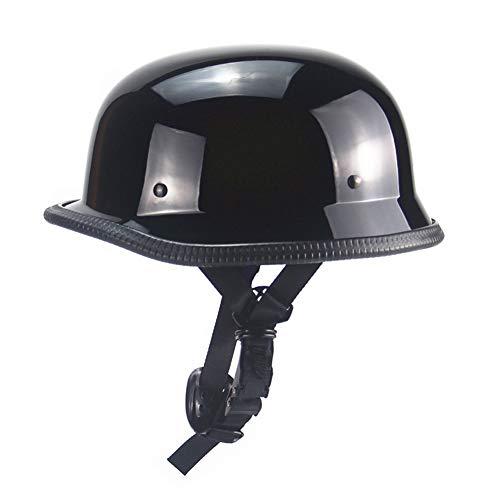 Yvonnelee Motorhelm, half open helm, voor dames en heren, stijl retro persoonlijkheid, zomer, open gezicht, cruiser, elektrische scooter, companionable Medium Kleur 2