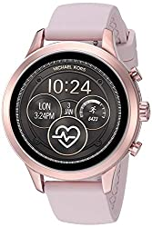 Michael Kors Women's Access Runway Stainless Steel Silicone Smart Watch