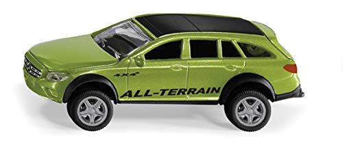 Siku 2349, Mercedes-Benz E-Klasse All-Terrain 4 x 4², 1:50, Metall/Kunststoff, Grün, Spielzeugauto für Kinder, Anhängerkupplung und öffenbare Motorhaube