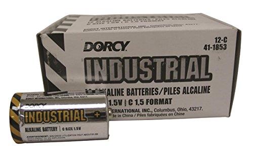 DORCY INTERNATIONAL 41-1853 022622 Industrial Alkaline C Batteries, 12 Pack