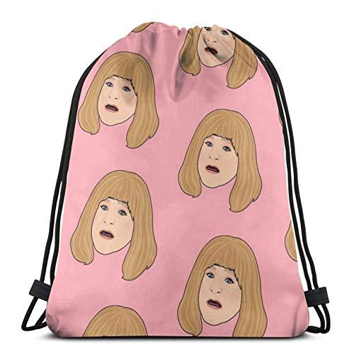 WH-CLA Cinch Bags Don-Kin Dun-NTS Bolsas con Cordón Bolsas De Almacenamiento Únicas Bolsas con Cincha Casual Mujer Bolsa De Playa Hombres Al Aire Libre Mochilas con Cordón Impresión Lige