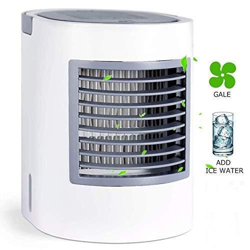 Refrigeración Escritorio Ventilador De Sobremesa USB Ovalado Mini Humidificador Aire Acondicionado Creativo Refrigerador Fácil Transportar Pequeño