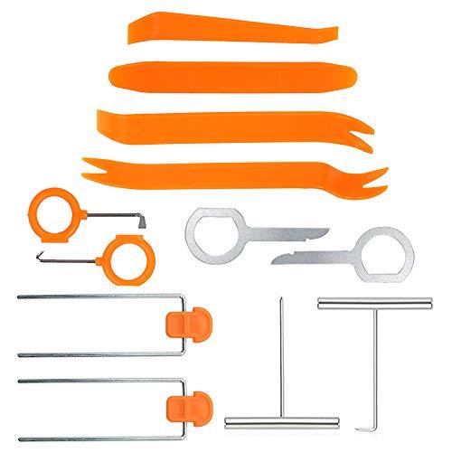 Johiux 12 Pcs Herramientas de Desmontaje, Herramientas de Desmontaje Kit para Desmontar el Salpicadero, Audio de Coche.