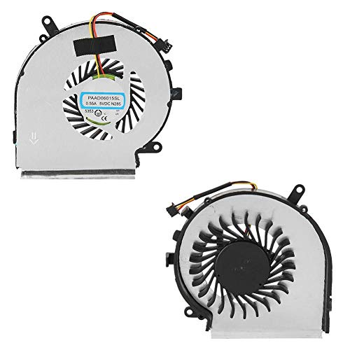 ASHATA CPU Lüfter, MSI GE62 Prozessor Lüfter Kühler Kühlung Fan,Laptop Kühlventilator CPU-Kühler Fan für MSI GE62 GL62 GE72 GL72 GP62 GP72 PE60 Serie PE70