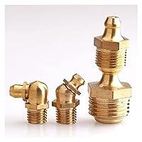 スクリュー 真鍮製油圧ツェルク/グリースノズルグリースニップルフィッティング45/90度ストレート M6 M8 M10 M12 M14 M14 ステンレス鋼 (Color : 5pcs, Size : M8x1.25 Straight)