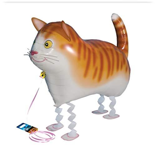 Ballons World Store- Palloncino a Forma di Gatto Che Cammina, Colore, R2245