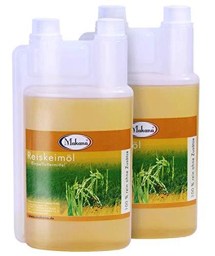 Makana Reiskeimöl für Tiere, raffiniert, 2 x 1 l Dosierflasche