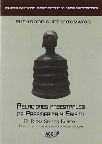 Relaciones ancestrales de Preamérica y Egipto: El Runa simi en Egipto. Análisis de la fonética de los nombre egipcios
