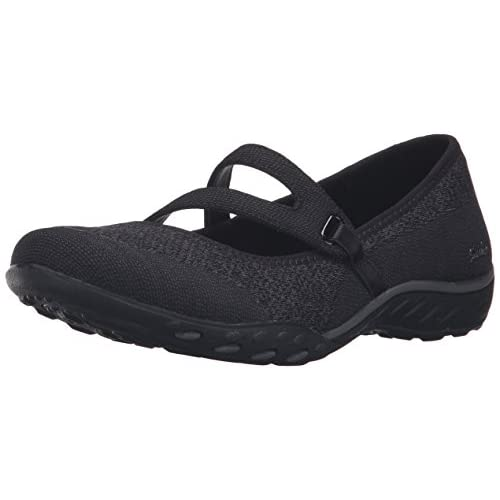 Skechers Women's Breathe Easy-Lucky Lady Mary Janes, Black (Black Blk), 2 UK 35 EU