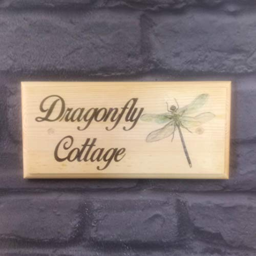 Personalised Dragonfly House Name Sign, Dragonfly Cottage Plaque, Dragonfly...