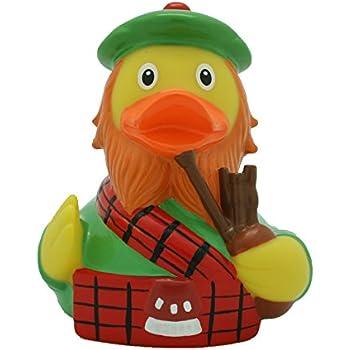 Ente Schottische Badeente Schotte Dudelsackspieler Gummiente