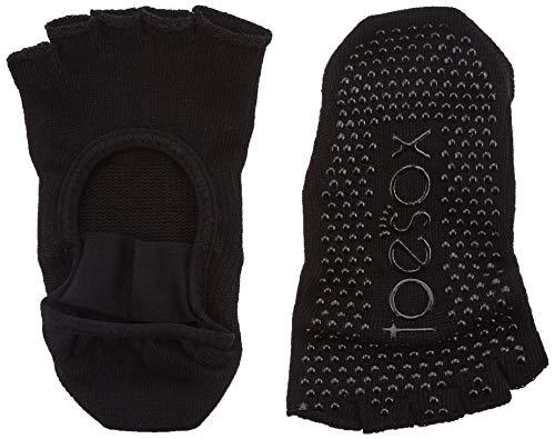 ToeSox Medias Toe Mia Black Calcetines, Negro, S
