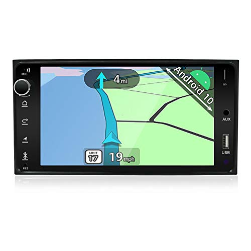 YUNTX Android 10 Autoradio kompatibel mit Toyota Corolla (2004-2013) - GPS 2 Din - KOSTENLOSE Rückfahrkamera- Unterstützung DAB + / Lenkradsteuerung / 4G / WiFi/Bluetooth/Mirrorlink/Carplay