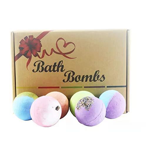 LCTS Kit de Bain Bombe 12 Bombes Organic & Natural Bath, Ajouter Les pétales huiles essentielles Naturelles Baignoire Spa pour hydrater la Peau sèche, pour Les Femmes, Petite Amie, Mamans