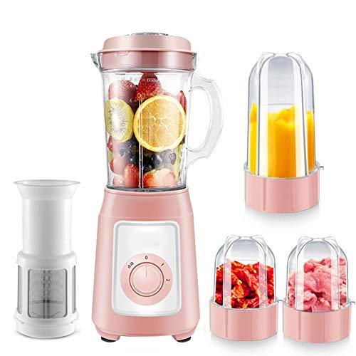 Exprimidor, Jugo frito pequeño para el hogar, Fruta y verdura automática, Máquina mezcladora multifunción, Complemento alimenticio,Pink